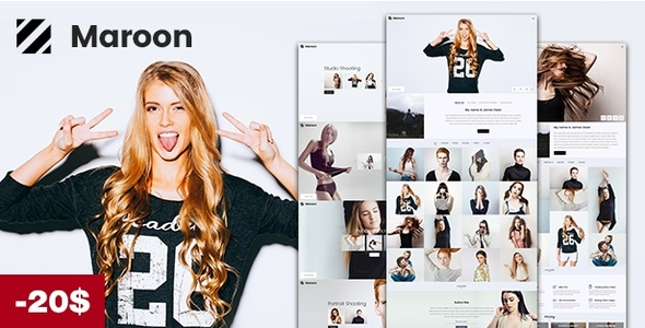 Maroon | Photography WordPress Theme