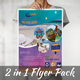 Travel Tourism 2 in 1 Flyer Pack - GraphicRiver Item for Sale