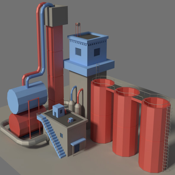 Low Poly Factory 3 - 3DOcean Item for Sale