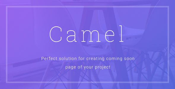 Camel – Coming Soon Template