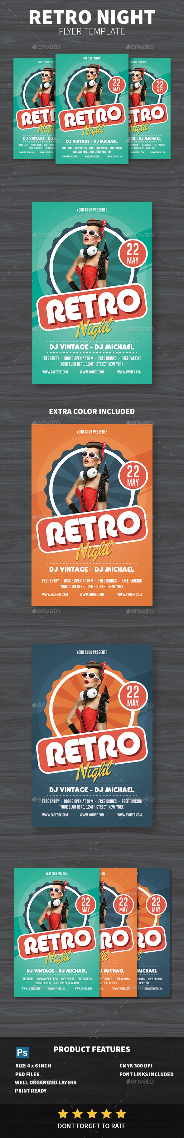 Retro Night Flyer