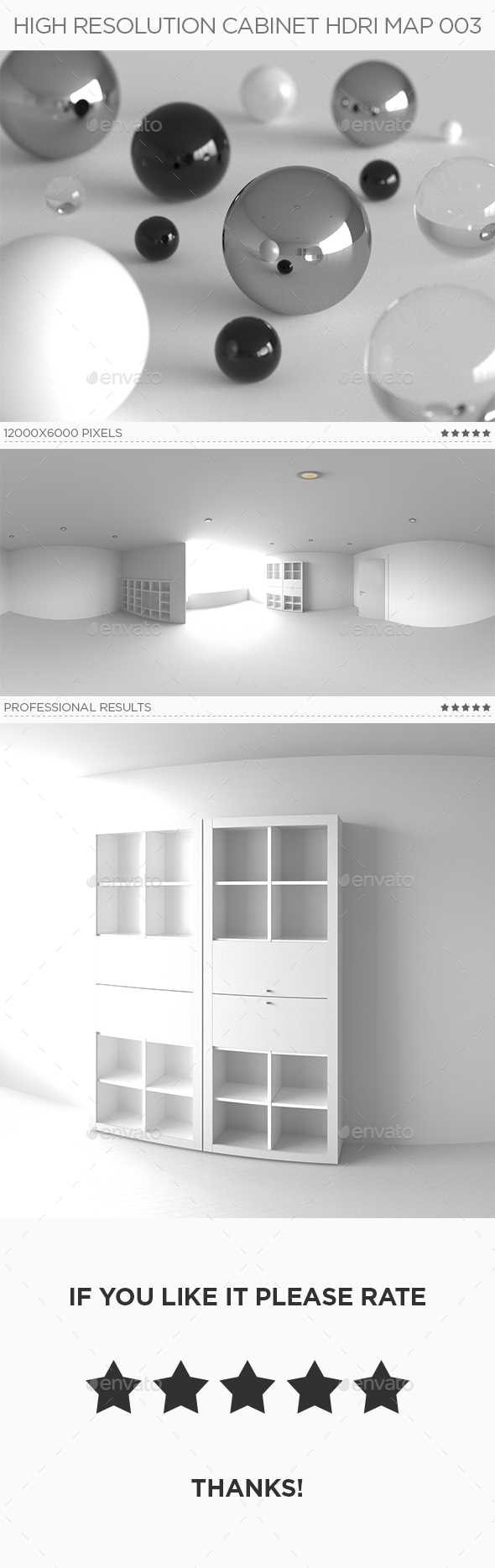 High Resolution Cabinet HDRi Map 003 - 3DOcean Item for Sale