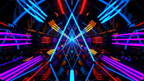 Vj Neon Light Tunnel