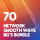 70 Geometric Network Terrain Wave Backgrounds Bundle - GraphicRiver Item for Sale