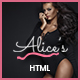 Alice's | Lingerie Store HTML Template - ThemeForest Item for Sale