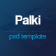 Palki App Landing Page PSD Template - ThemeForest Item for Sale