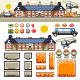 Luxury Mansion in Autumn Flat Game Level Kit - GraphicRiver Item for Sale