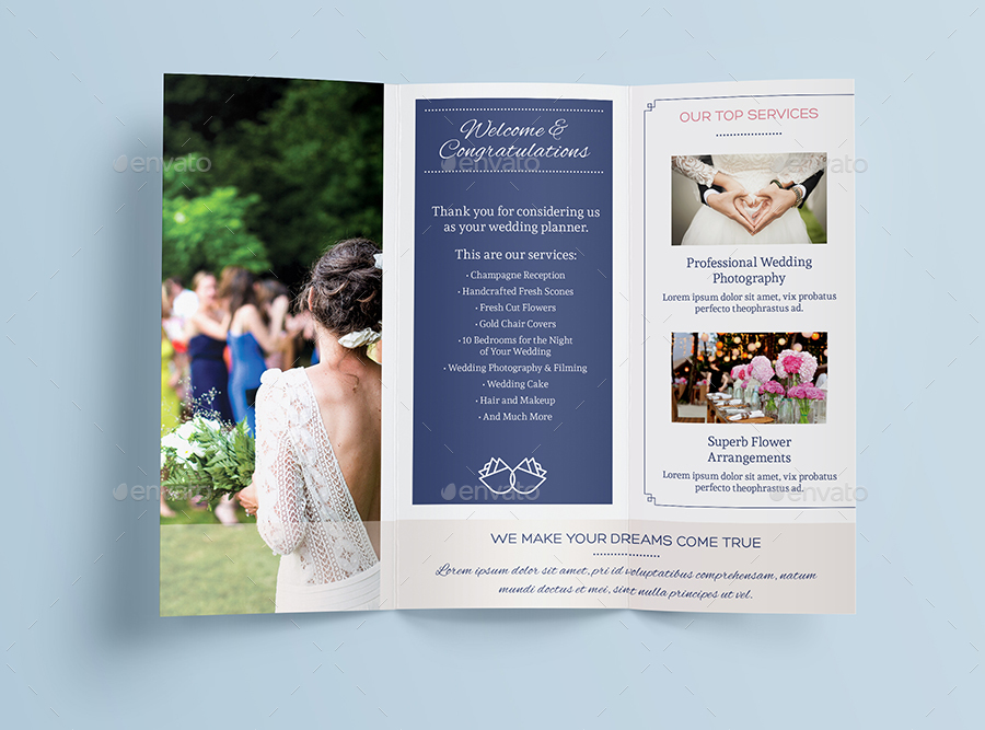 Wedding Planner A4 Letter Trifold