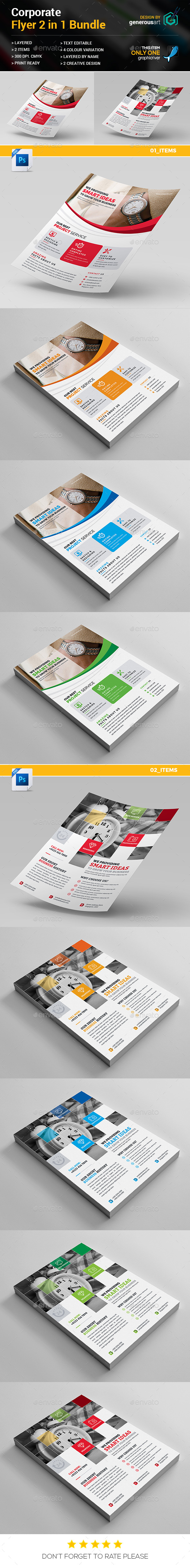 Business Flyer Bundle 2 in 1 - Corporate Flyers