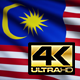 Flag 4K Malaysia On Realistic Looping Animation With Highly Detailed Fabric - VideoHive Item for Sale