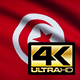 Flag 4K Tunisia On Realistic Looping Animation With Highly Detailed Fabric - VideoHive Item for Sale