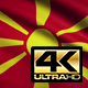 Flag 4K Macedonia On Realistic Looping Animation With Highly Detailed Fabric - VideoHive Item for Sale