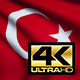 Flag 4K Turkey On Realistic Looping Animation With Highly Detailed Fabric - VideoHive Item for Sale