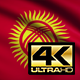 Flag 4K Kyrgyzstan On Realistic Looping Animation With Highly Detailed Fabric - VideoHive Item for Sale