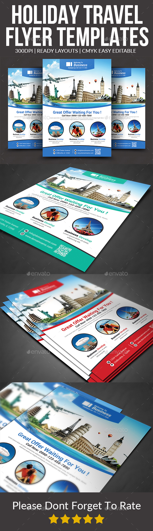 Holiday Travel Flyer Templates - Corporate Flyers