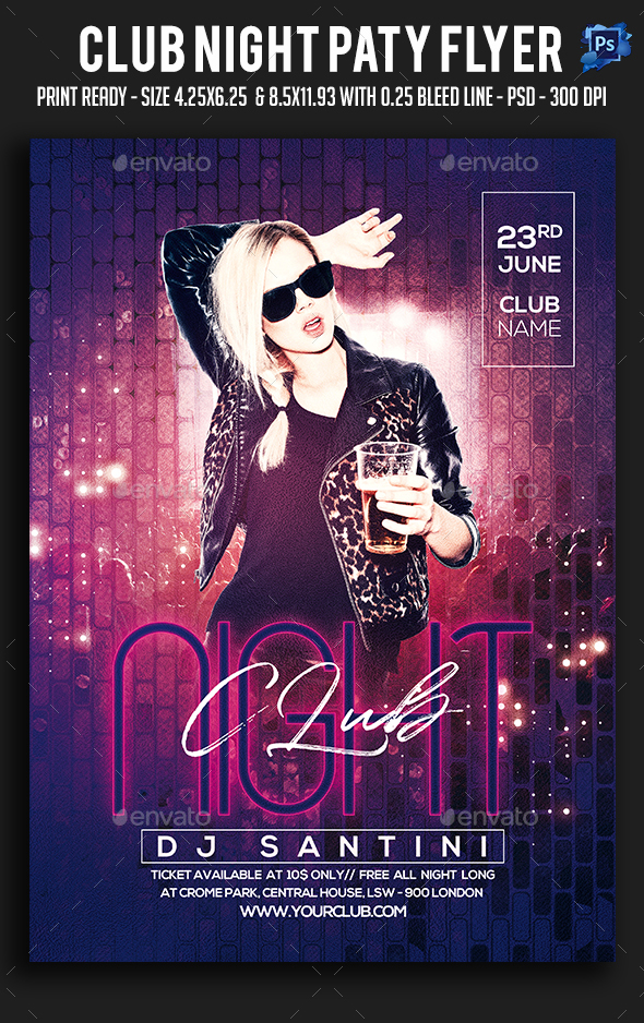 Club Night Paty Flyer - Clubs & Parties Events