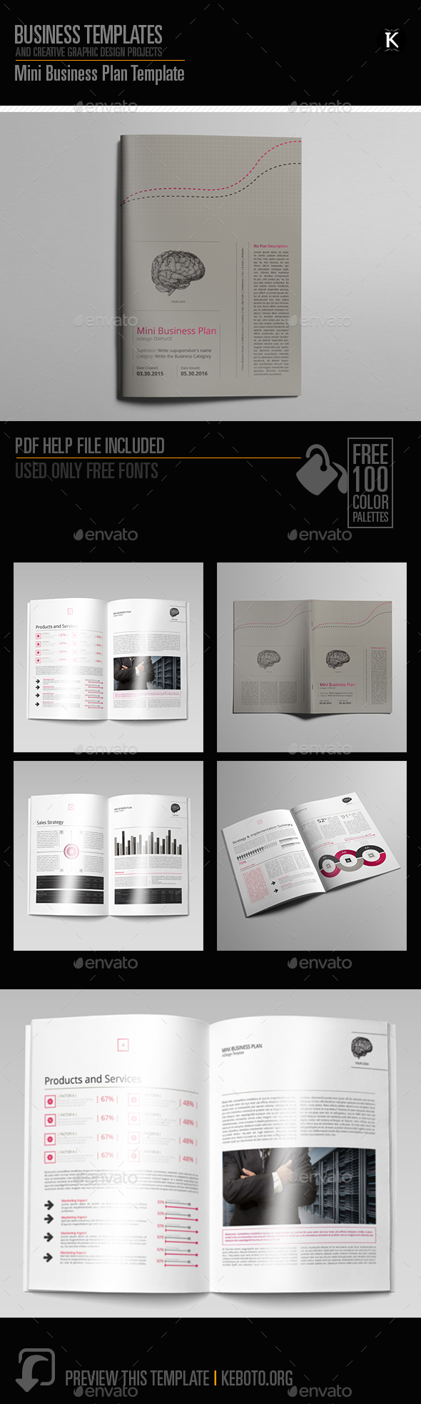 Mini Business Plan Template - Miscellaneous Print Templates