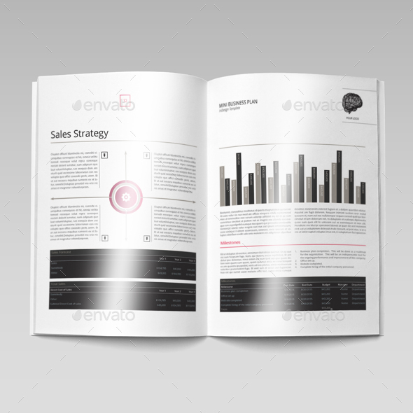 mini business plan template by keboto graphicriver