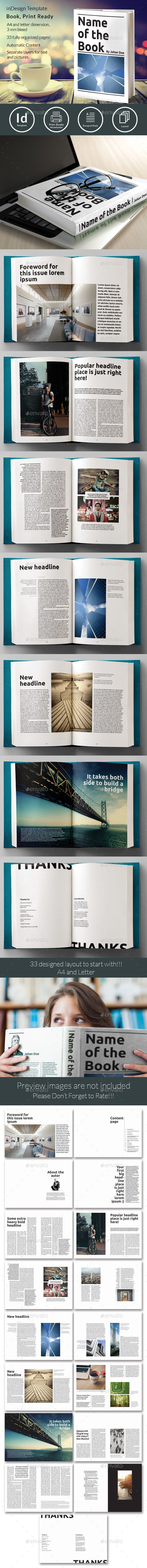 Book Template No3 - Miscellaneous Print Templates