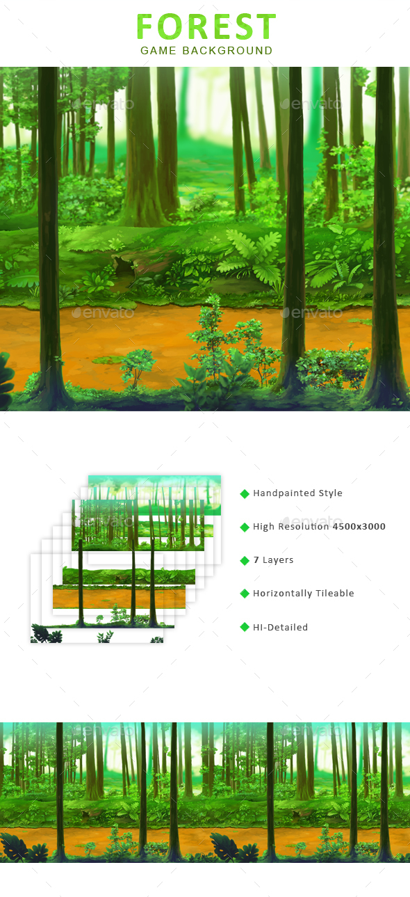 Forest - Game Background - Backgrounds Game Assets