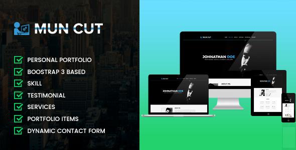 Mun Cut Personal Portfolio HTML Template - Portfolio Creative