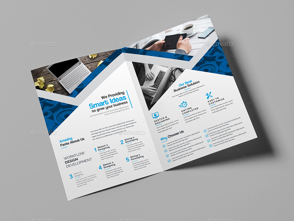 Business Bi-Fold Brochure Bundle 2 in 1 by generousart | GraphicRiver