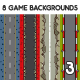 8 Top-Down Game Backgrounds Set 3 - GraphicRiver Item for Sale