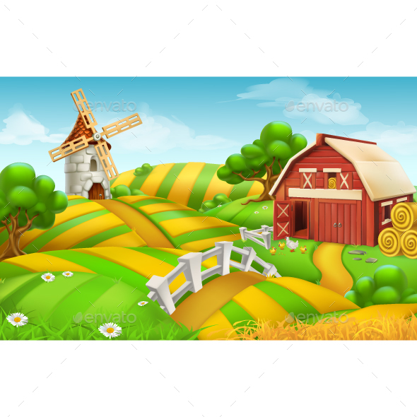 Farm Field Landscape - Landscapes Nature