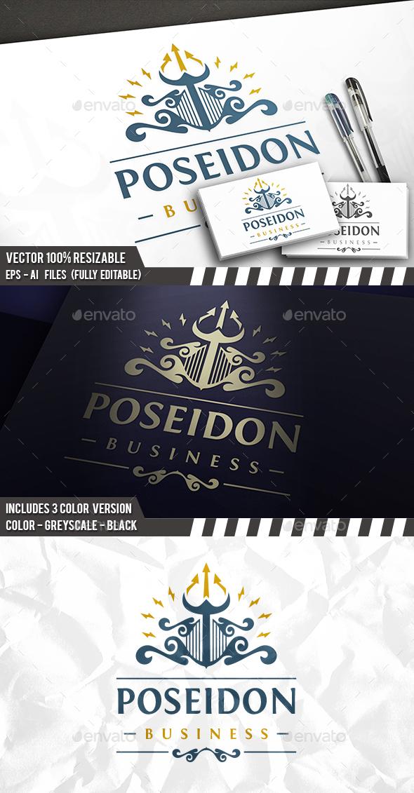 Poseidon Crest Logo - Crests Logo Templates