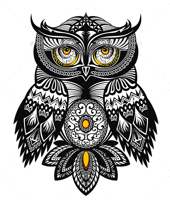 Owl Bird - Animals Characters