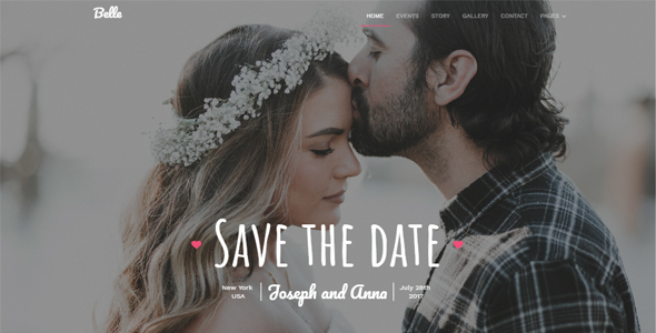 Belle - Responsive Wedding Template - Wedding Site Templates