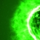 Futuristic Abstract Green Sun in Space with Flares. - VideoHive Item for Sale
