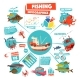 Fishing Infographics Design - GraphicRiver Item for Sale
