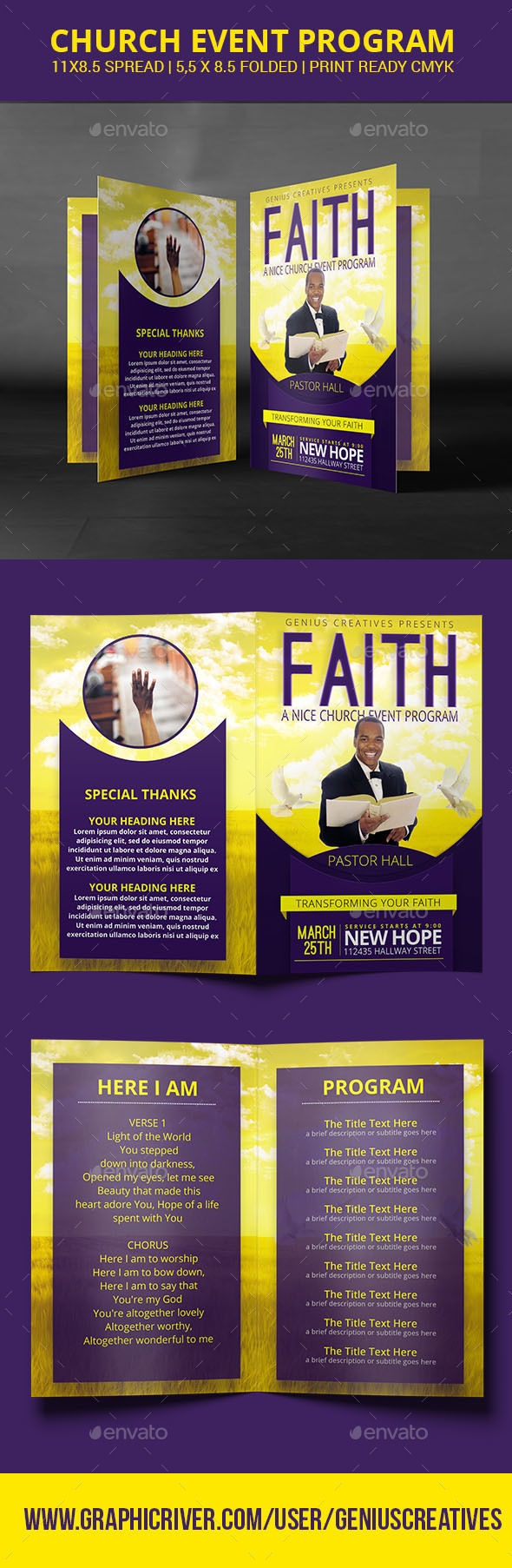 Faith Church Program or Brochure - Informational Brochures