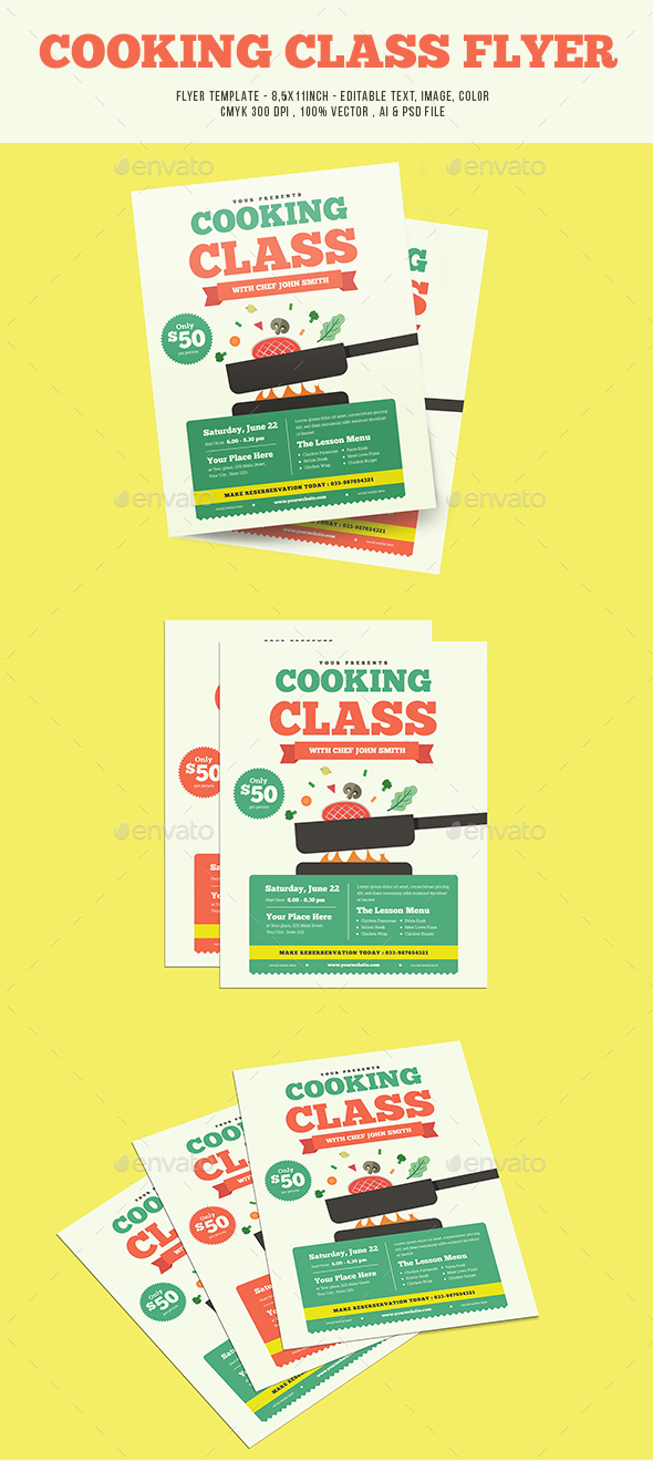 Cooking Class Flyer - Flyers Print Templates