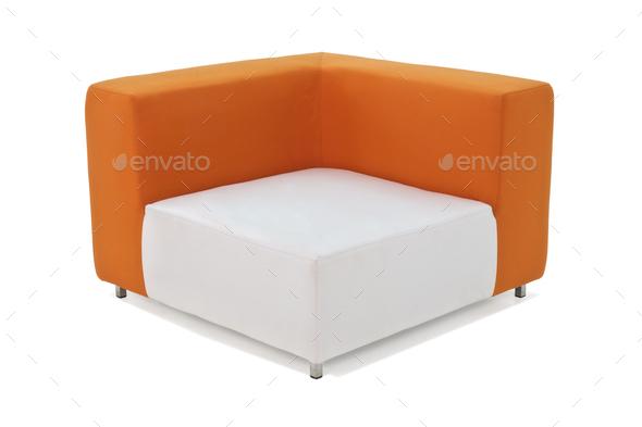 Outdoor Indoor Sofa Orange Color - Stock Photo - Images
