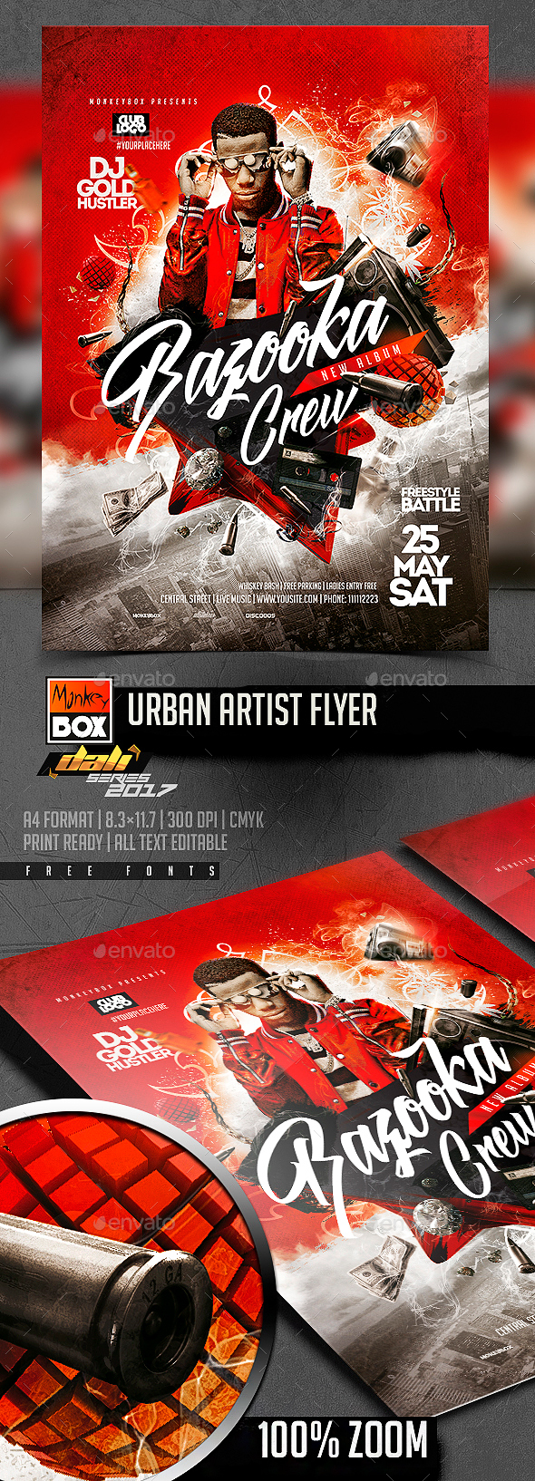 Urban Artist Flyer - Flyers Print Templates