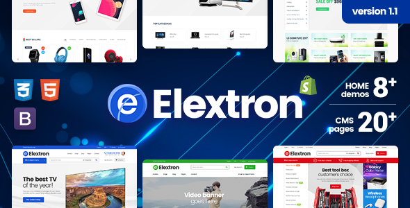 Elextron Supermarket – Electronics, Gadget, Mobile & Digital Responsive Shopify Theme