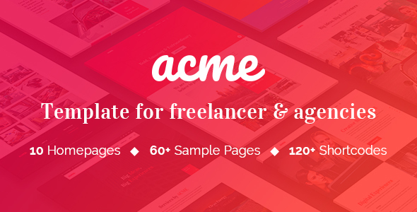 ACME - Theme for freelancers & agencies - Site Templates