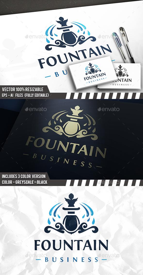 Fountain Logo - Crests Logo Templates