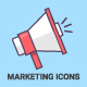 Digital Marketing Outline Icons - GraphicRiver Item for Sale