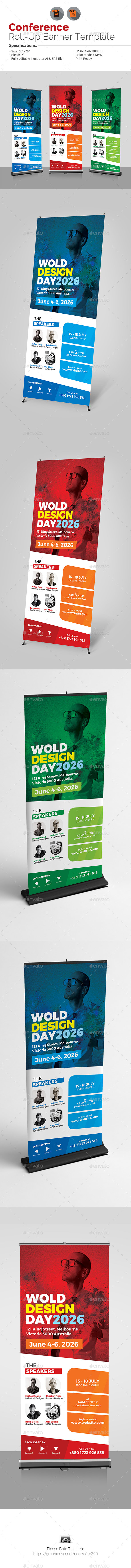 Conference / Event Roll-Up Banner - Signage Print Templates