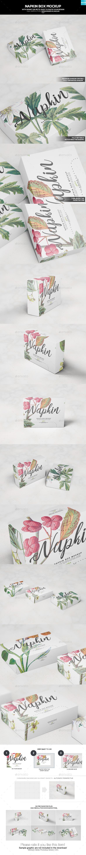 Napkin Box Mockup - Miscellaneous Packaging