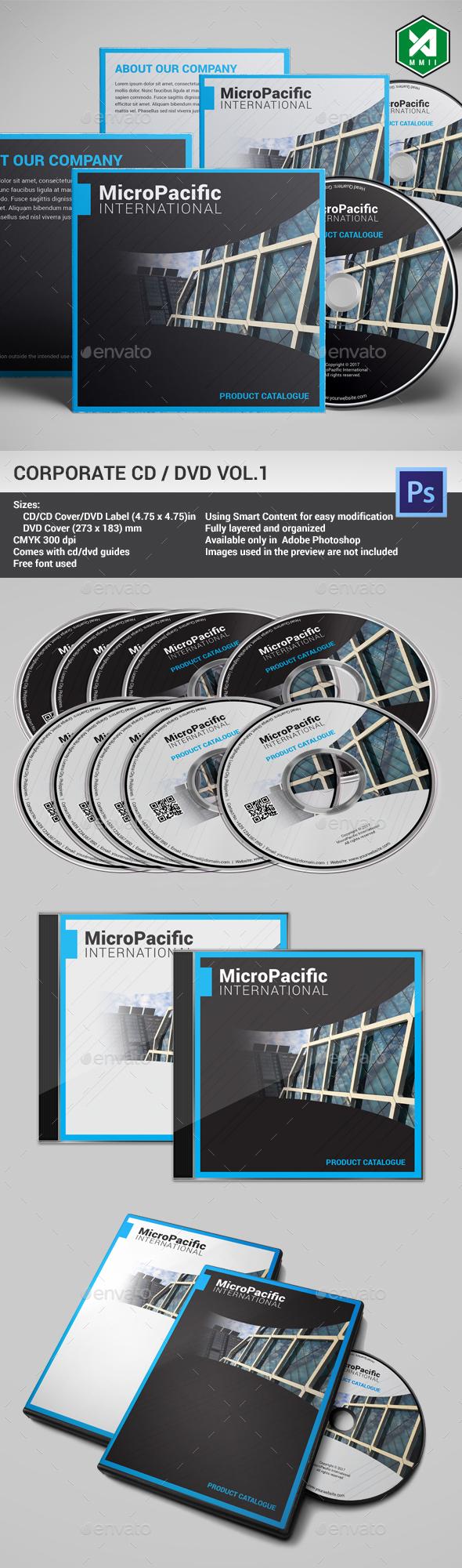 Corporate CD / DVD Template Vol. 1 - CD & DVD Artwork Print Templates