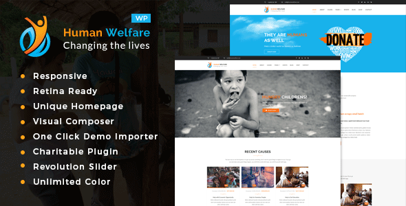 Human Welfare - Charity/Fundraising WordPress Theme - Charity Nonprofit