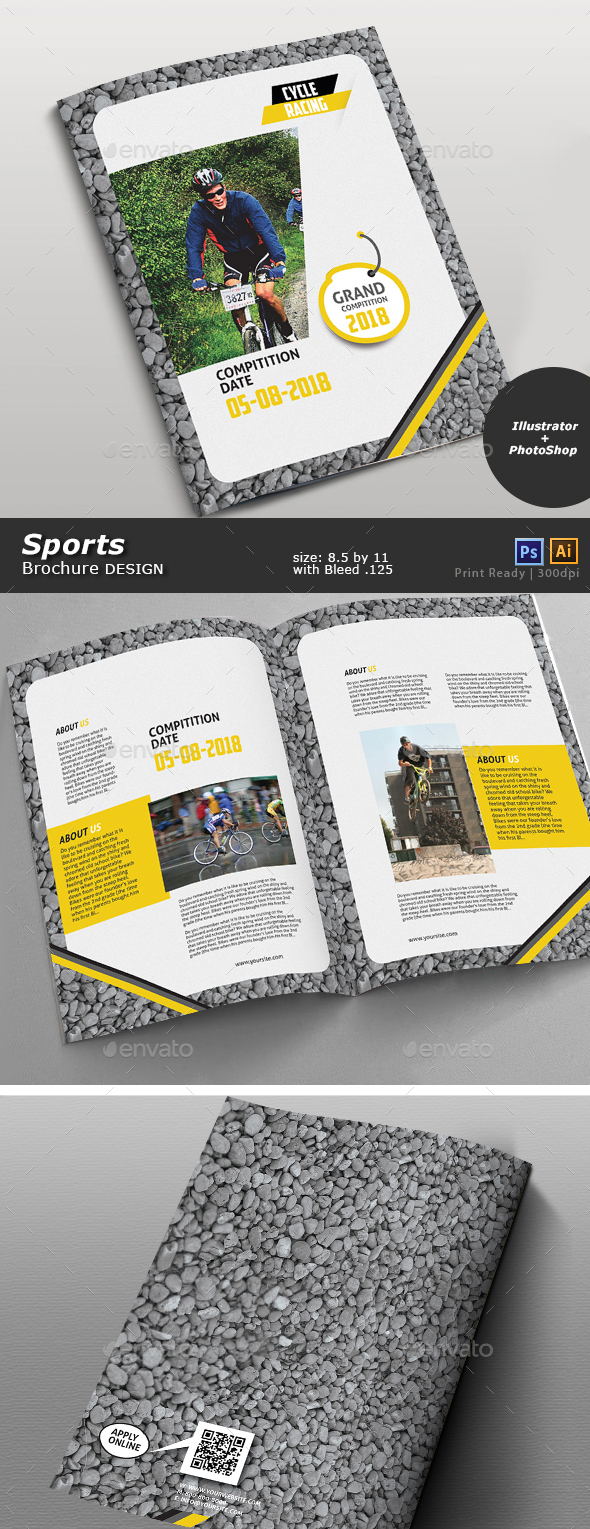 Bicycle Racing Brochure - Brochures Print Templates