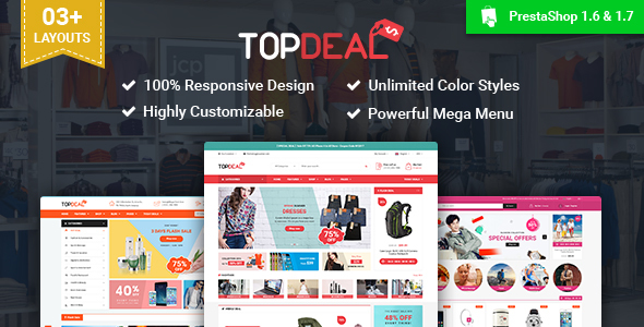 SP TopDeal – Multipurpose Responsive PrestaShop 1.7 and 1.6 Theme
