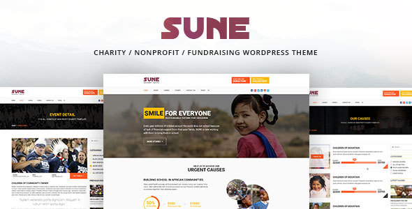 SUNE –  Charity / Nonprofit / Fundraising WordPress Theme