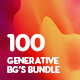 100 Generative Graphics Backgrounds Bundle - GraphicRiver Item for Sale