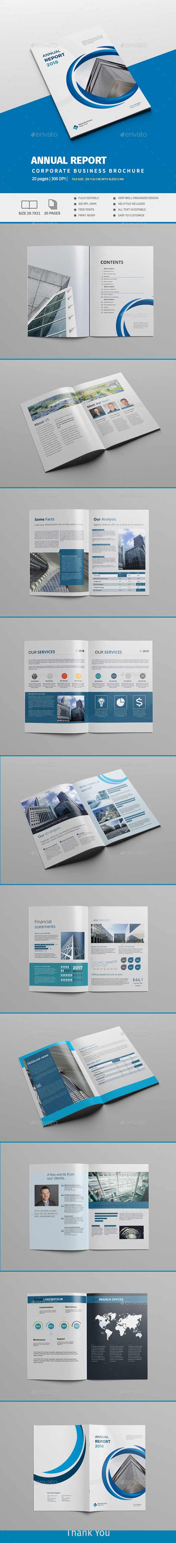 Annual Report 2018 - Brochures Print Templates